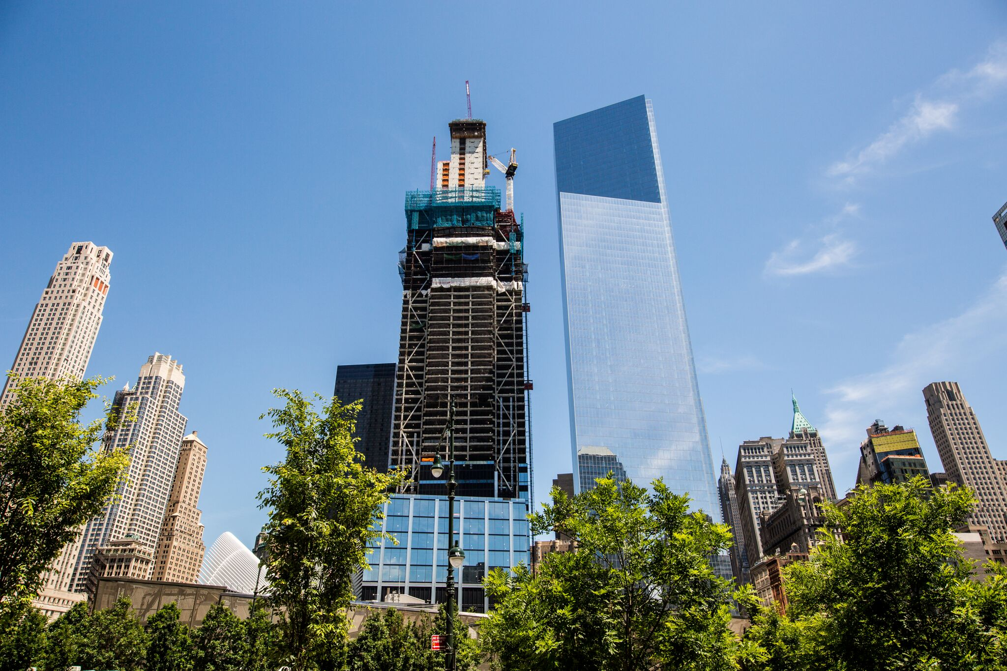Finally! 15 years later, 3 WTC tops out